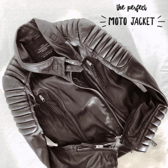 21cb6f0fffb73 All Saints Jackets   Blazers - All Saints Steine Leather Jacket- Size 2